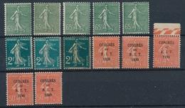 CX-236: FRANCE: Lot Avec Semeuses ** N°234(5)-239(3)-265(5) - 1903-60 Sower - Ligned