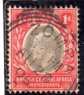 BRITISH CENTRAL AFRICA CENTRALE BRITANNICA 1903 KING EDWARD RE EDOARDO 1c USATO USED OBLITERE' - Gran Bretagna (vecchie Colonie E Protettorati)