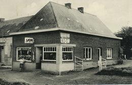 Roisin Honnelles  Café Friture Epicerie . Chez Maria Biere Superlux Pils Lion - Belgium