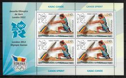ROUMANIE  Feuillet   N°    * *  Jo 2012  Canoe Kayak - Canoa