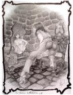 CLAUDE MARRACHE Aux Frontieres Du Fantastique Dessin Numero 4(SCAN RECTO VERSO)MA0057 - Künstlerkarten