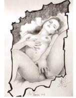 CLAUDE MARRACHE Les Ingenues N°17 Dessin Numero 7(SCAN RECTO VERSO)MA0057 - Künstlerkarten