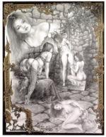 CLAUDE MARRACHE Dessin Numero 14(SCAN RECTO VERSO)MA0057 - Künstlerkarten