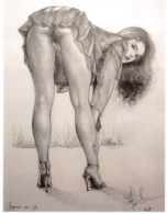 CLAUDE MARRACHE Ingenues N°19 Dessin Numero 18(SCAN RECTO VERSO)MA0057 - Künstlerkarten
