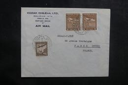 CHILI - Enveloppe Commerciale De Santiago Pour Paris En 1939, Affranchissement Plaisant - L 39300 - Chile