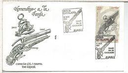 RIPOLL GERONA MAT FARGA CATALANA PISTOLA OLD GUN CON PERFORADO PERFIN RIPOLL 90 - Militares