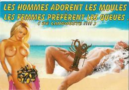 HUMOUR - NUS - Les Hommes Adorent Les Moules - Les Femmes Préfèrent Les Queues (de Langouste!!!!) - Humor