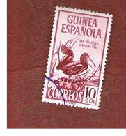 GUINEA SPAGNOLA (SPANISH GUINEA) - SG 372 - 1952  COLONIAL STAMP DAY: BIRDS - USED - Guinea Spagnola