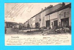 CPA FLORENVILLE : Grand'Place - Animation Et Commerces - Circulée En 1902 - Libr. Desaunoy, Florenville - Florenville