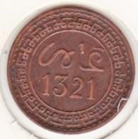 Maroc. 2 Mazunas (Mouzounas) HA 1321 (1903) Paris. Abdul Aziz I. Frappe Médaille. Bronze. - Marokko
