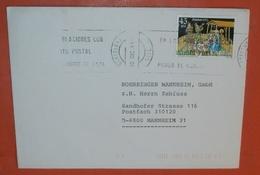SPANIEN 2703 Weihnachten -- Barcelona 20.12.1985 -- Boehninger Mannheim S.A. -- Brief Cover (2 Foto)(37836) - 1931-Heute: 2. Rep. - ... Juan Carlos I