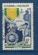 """SPM YT 347 """" Médaille Militaire """" 1952 Oblitéré - Oblitérés"""
