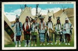 Ref 1317 - Ethnic Postcard - A Group Of Northwest Indians - USA Or Canada - America