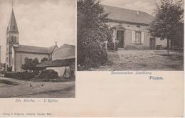 57 - FIXEM - 2 VUES - RESTAURANT ASSELBURG ET L'EGLISE - Autres Communes