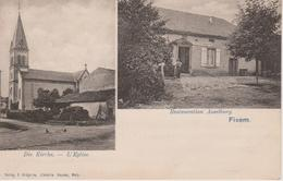 57 - FIXEM - 2 VUES - RESTAURANT ASSELBURG ET L'EGLISE - France