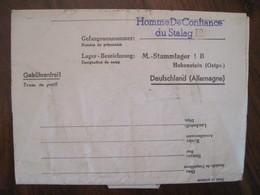 Stalag I B Homme De Confiance Stammlager HOHENSTEIN Guerre Ww2 WK1 POW PG DR Courrier Lager KG STO Ostpr - Militaria