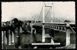 Ref 1317 - Chapman Real Photo Postcard - Tamar Bridges - Saltash Cornwall - Other