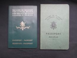LOT 2 PASSEPORTS BELGIQUE (M1911) PASSEPORT 1948 Et 1973 (2 Vues) Paspoort, Reisepass Passport - Documents Historiques