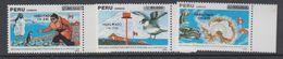 Peru 1989 Antarctica 3v Ovptd ** Mnh (44164) - Zonder Classificatie