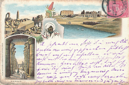 715/29 - EGYPT Ancient Colour Multiple Views , Editor Guggenheim , Zurich - Used ASSIOUT 1898 To OSNABRUCK Allemagne - Autres