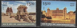 INDIA, 2018, MNH, HOLIDAY DESTINATIONS IN INDIA, TEMPLES, 2v - Holidays & Tourism