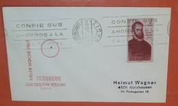 SPANIEN 1197 De Aviles - Entdecker -- SST: Kieler Woche 1965 - Cadiz 08.07.1965 -- Brief Slogan Cover (2 Foto)(37840) - 1931-Heute: 2. Rep. - ... Juan Carlos I