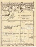 1 Facture Illustrée : Hostellia à Boulogne-sur-Mer - Spécialités Alimentaires - Alimentaire