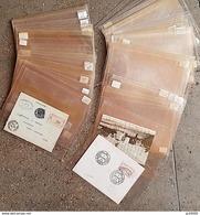 200 ETUIS DE PROTECTION Pour Lettres, Blocs, Billets, CP, Feuillets, Etc... Dimension: 130x190 Mm - Buste Trasparenti