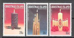 Christmas: Yvert N°182/4**; MNH; Luxe; Noël; Chandelle; Bougie - Christmas Island
