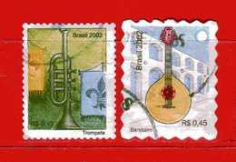 (1Us) Brasile ° - 2002 -  INSTRUMENTS De MUSIQUE - Yvert.2814-2816. Used. - Brasile