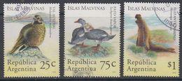 Argentina 1994 Islas Malvinas / Falkland Islands Fauna 3v Used (44166B) - Argentinië