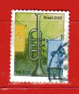 (1Us) Brasile ° - 2002 -  INSTRUMENTS De MUSIQUE - Yvert.2814. Used. - Brasile