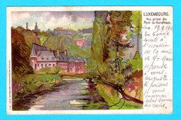 CPA Luxembourg : Carte LITHO Illustrée A. PELLON - Vue Prise Du Pont Du Hundhaus - Circulée - Ed. Rosenzweig, Luxembourg - Luxemburg - Town