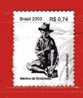 (1Us) Brasile ° - 2003 -  CANDIDO PORTINARI - Yvert.2859A. Used. - Brasile