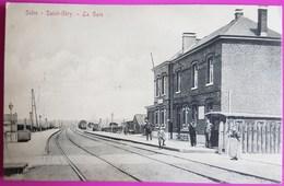 Cpa Solre Saint Géry Gare Carte Postale Belgique Hainaut Rare Proche Beaumont Court Tournant Sivry Rance Gravelinne St - Belgium