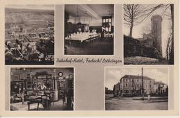 57 - FORBACH - HOTEL DE LA GARE - INTERIEUR ET EXTERIEUR - CARTE GERMANISEE - Forbach