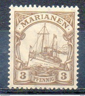 "OCEANIE - MARIANNES - (Colonie Allemande) - 1900 - N° 7 - 3 P. Brun - (Yacht Impérial ""Hohenzollern"") - Islas Maríanas"