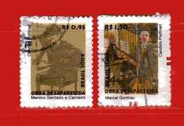 (1Us) Brasile °- 2004 - Dipinti Scomparsi Di  CANDIDO PORTINARI - Yvert.2904-2906. Used. - Brasile
