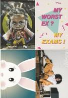 4 Guidooh ( Boomerang ) Happy Easter Streetart Kringwinkel Antwerpen Postkaart Postcards Carte Postale - Publicité