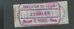 Annulé Le 22 Mai 1888  Par Banque H. Drèze, Dison - Fiscale Zegels
