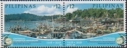 PHILIPPINES, 2018, MNH,MUNICIPALITY OF ESTANCIA, FISH, FISHING BOATS, BOATS, 2v - Fishes
