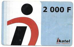 @+ Mali - Prépayée Ikatel - 2000 F - Date 31/12/2007 (maigre) - Mali