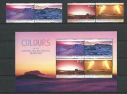 AAT 2015 - Les Couleurs Des AAT (série + Bloc) - Unused Stamps