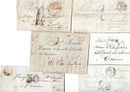 Un Lot De 18 Lettres De 1815 à 1873 Bien - Marcophilie (Lettres)