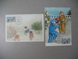 Carte Maximum 1989   N°  2584 Et 2585 - Maximum Cards