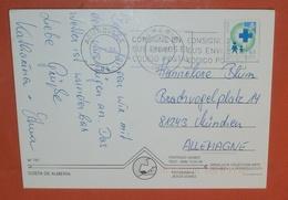 SPANIEN 3099 Gesundheitswesen Kreuz -- AK: Aguadulce 02.05.1997 -- Brief Postcard Cover (2 Foto)(37852) - 1931-Today: 2nd Rep - ... Juan Carlos I