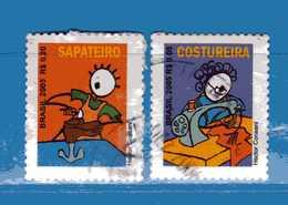 (1Us) Brasile °- 2005 - PROFESSIONI - Yvert.2938-2939. Used. - Brasile