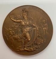 Medaille Bronze. J.C. Chaplain. Hommage Des électriciens à Zenobe Gramme 27 Mars 1898. 68 Mm - Professionnels / De Société