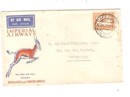PR6735/ South Africa Air Mail Cover Imperial Airways Capetown 1932 England&S.A.Antilope > Belgium Via Paris France - Posta Aerea