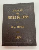 Rare Médaille-plaquette Bronze Argenté Avec écrin. Société Des Mines De Lens. M.A.Déprès. 1899. O. Roty. 48 X 68 Mm - Professionnels / De Société